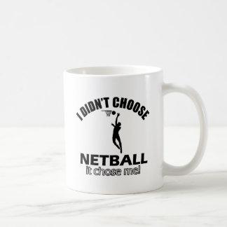 Didn't choose Netball Basic White Mug