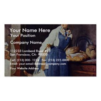 Die Besorgerin By Chardin Jean-Baptiste Siméon Be Business Card Template