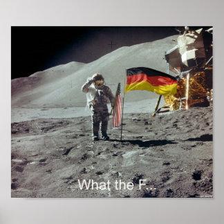 Die Deutschen waren die ersten auf dem Mond Print