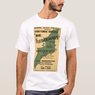 Die Fledermaus Strauss 1938 WPA T-Shirt