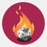 Die in a Fire (D.I.A.F) Round Stickers