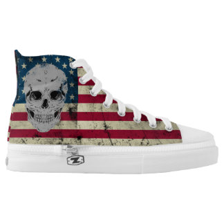 Die in The USA - Grunge Sneaker Printed Shoes
