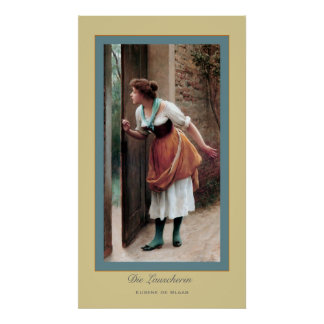 Die Lauscherin ~ Eugene de Blass Poster