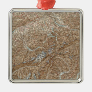 Die Schweiz,  Switzerland Atlas Map Christmas Ornament