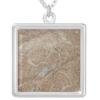 Die Schweiz,  Switzerland Atlas Map Silver Plated Necklace