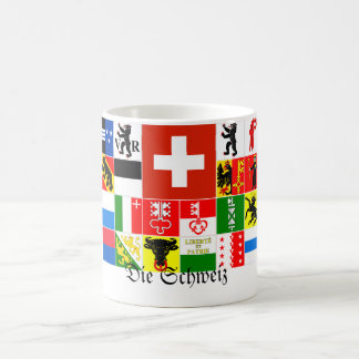 Die Schweiz Switzerland German Canton Flags Coffee Mug