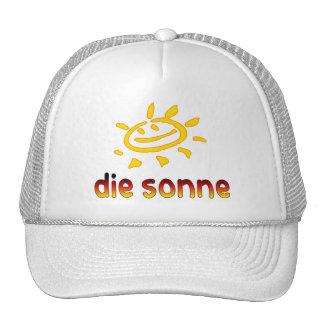Die sonne The Sun in German Summer Vacation Trucker Hats