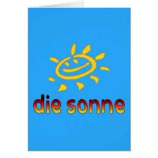Die sonne The Sun in German Summer Vacation Greeting Card