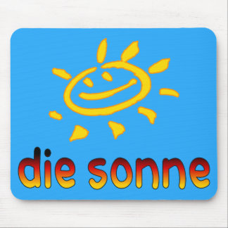 Die sonne The Sun in German Summer Vacation Mouse Pad