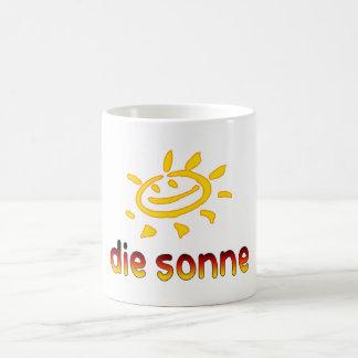 Die sonne The Sun in German Summer Vacation Mugs