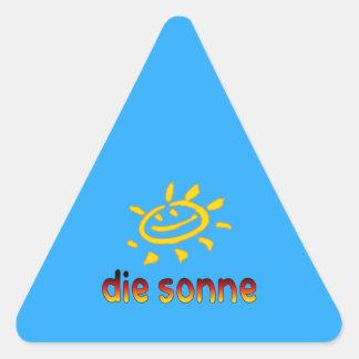 Die sonne The Sun in German Summer Vacation Triangle Sticker