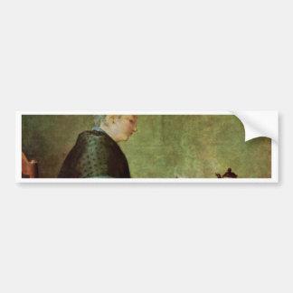 Die Teetrinkerin By Chardin Jean-Baptiste Siméon ( Bumper Stickers