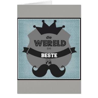 Die wereld se beste pa card