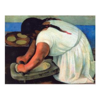 Diego Rivera  - La Molendera, 1923 Postcard