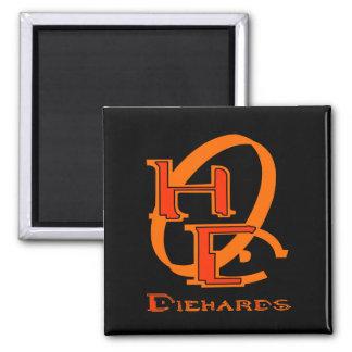 Diehards Gamer Graphic Square Magnet