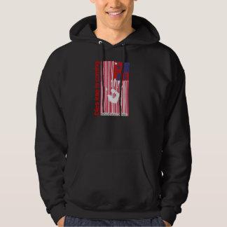 Dies irae - Refuses Resist Revolt American Barcode Hooded Sweatshirts