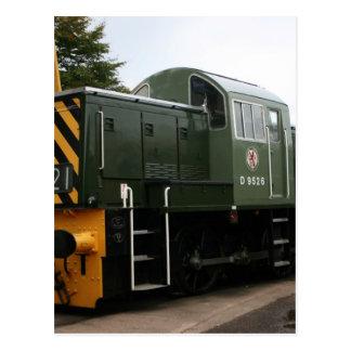 Diesel at Williton station, Somerset Postcard