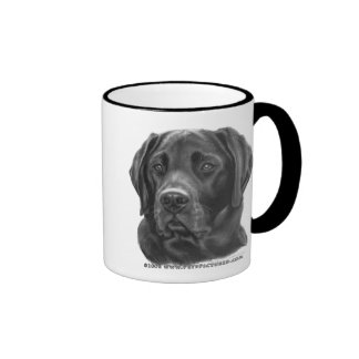 Diesel, Black Labrador Retriever Ringer Mug