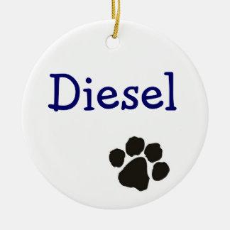Diesel - dog pendant round ceramic decoration