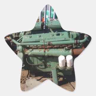 Diesel Engine Star Sticker