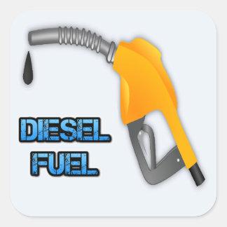 Diesel Fuel Square Sticker