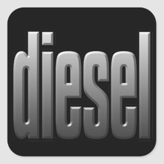 DIESEL. hardcore, strength. tough. muscle.Sq Square Sticker