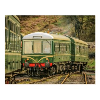 Diesel Locomotive Railcar Postcard