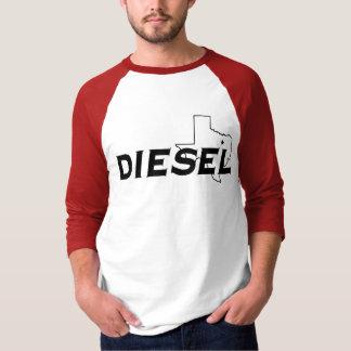 Diesel Red/Black 3/4 Sleeve T-Shirt