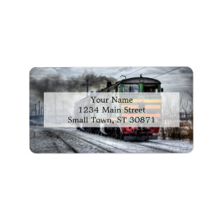 Diesel Train Locomotive Gifts Address Label