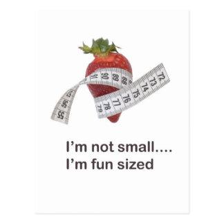 Diet concept postcard