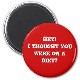 Diet helper #3 6 cm round magnet
