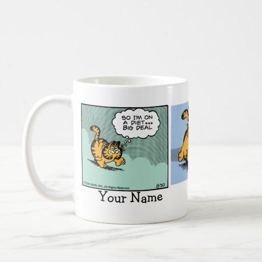 """""""Diet is 'Die' with a 'T' """" Garfield Comic Strip Coffee Mug"""