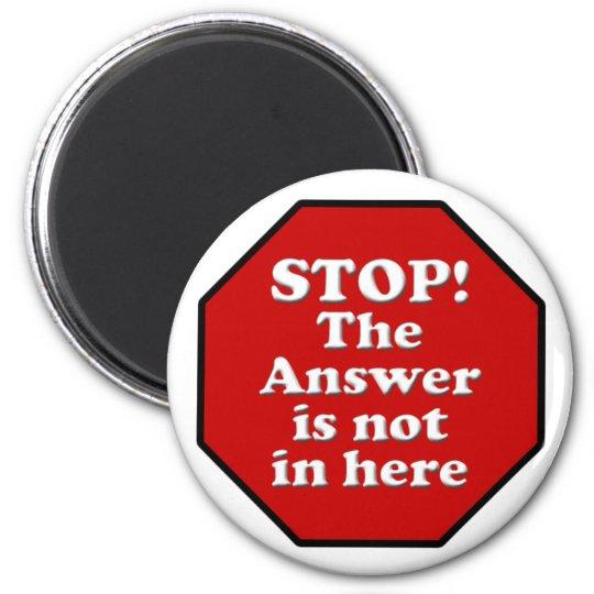 Diet Motivation Magnet, Stop Sign Refrigerator 6 Cm Round Magnet