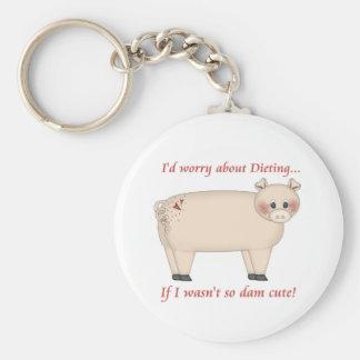 Diet Pig Key Chain