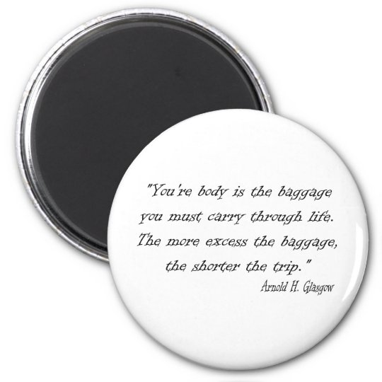 Diet Quote for the Dieter 6 Cm Round Magnet