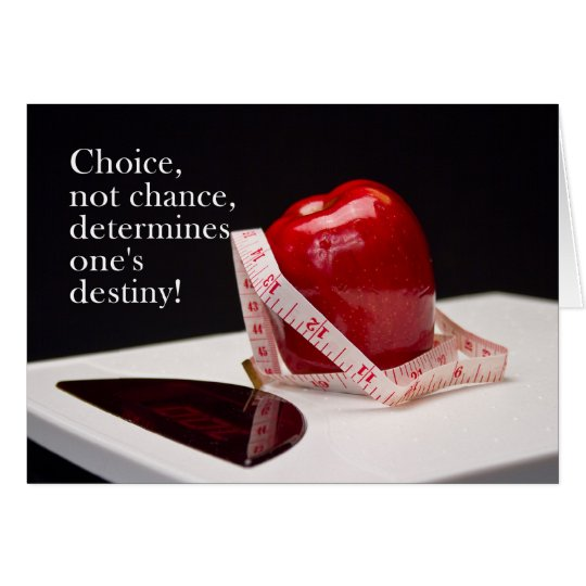 Diet Success - Not Chance - Choice Card