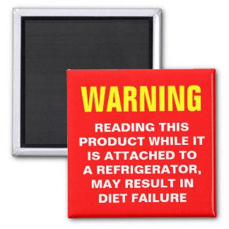 Diet Warning Magnet