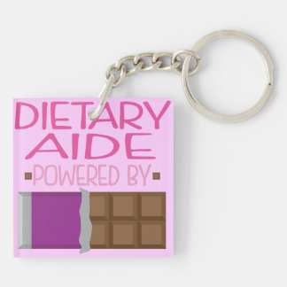 Dietary Aide Chocolate Gift for Her Double-Sided Square Acrylic Key Ring