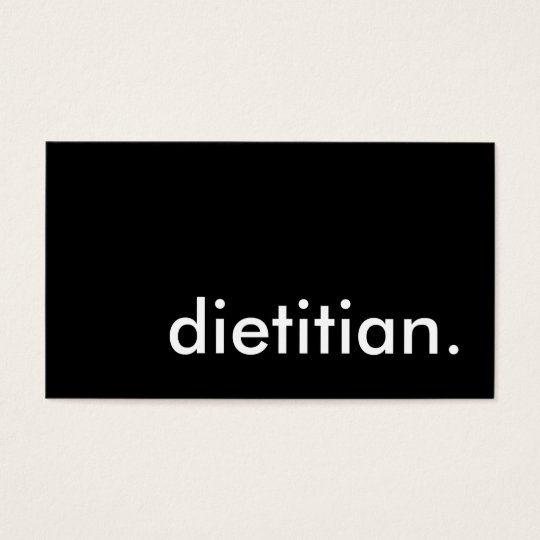 dietician. business card