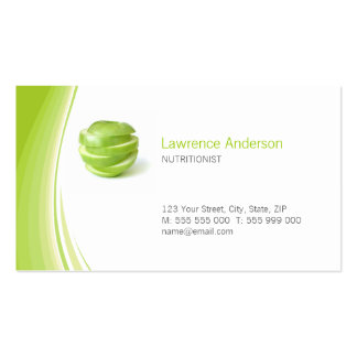 Dietician / Nutritionist business card