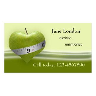 Dietician & Nutritionist Green Heart Business Card