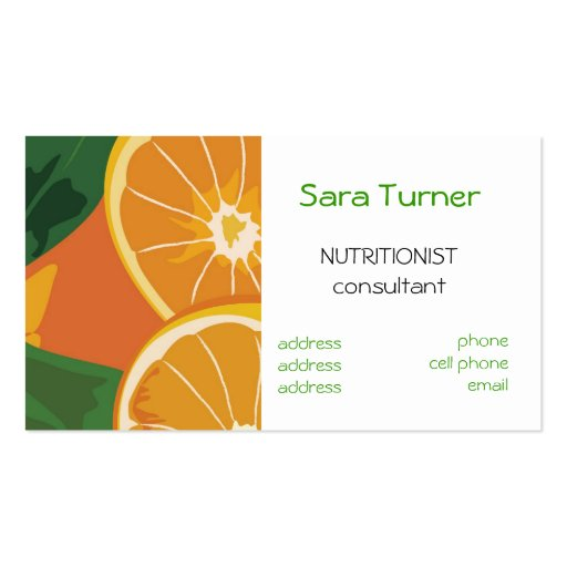 Create your own nutritionist business cards dieticians and nutritionists business card colourmoves