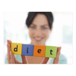 Dieting, conceptual image. postcard
