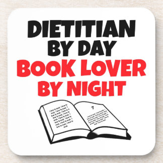 Dietitian by Day Book Lover by Night Coasters