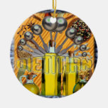 DIETITIAN FOOD COLLAGE LOGO CHRISTMAS ORNAMENT