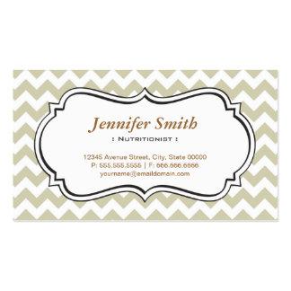 Dietitian Nutritionist - Chevron Simple Jasmine Pack Of Standard Business Cards