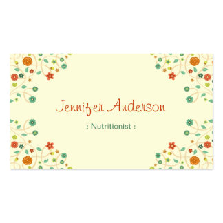 Dietitian Nutritionist - Chic Nature Stylish Pack Of Standard Business Cards