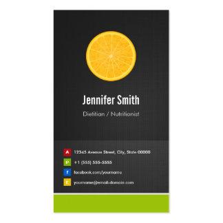 Dietitian / Nutritionist Diet Creative Innovative Business Card Template