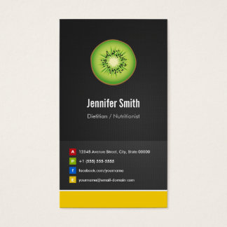 Dietitian / Nutritionist Diet Creative Innovative Business Card
