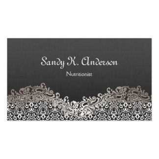 Dietitian Nutritionist - Elegant Damask Lace Pack Of Standard Business Cards